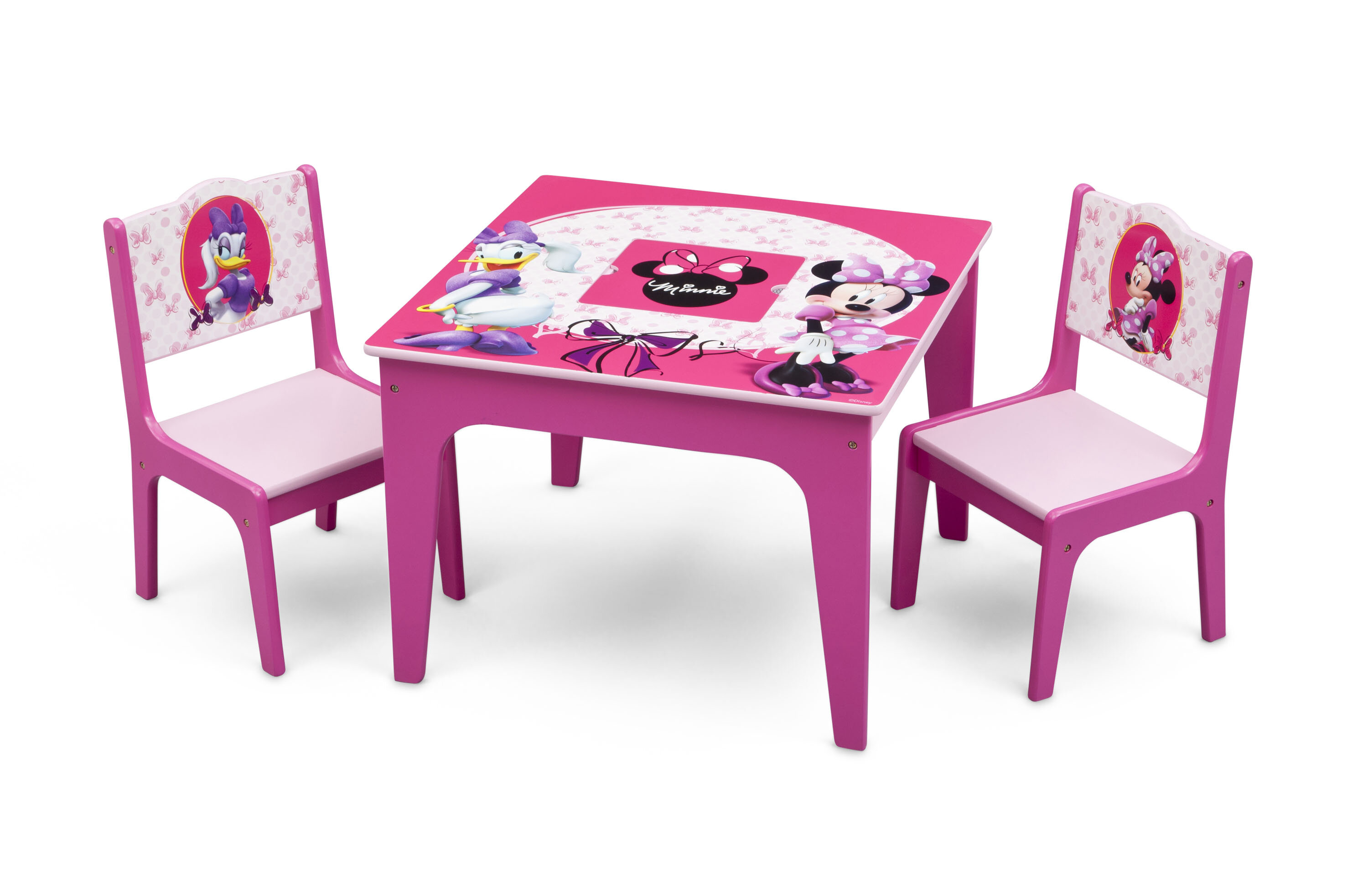 Delta Children Minnie Mouse Kids 3 Piece Table And Chair Set U0026 Reviews |  Wayfair