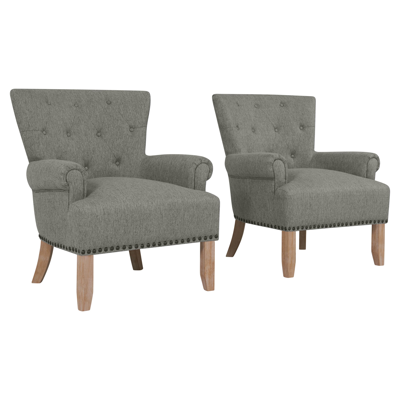 Gracie Oaks Ryde Button Tufted Armchair | Wayfair