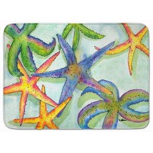 Belviderau00a0Starfish Memory Foam Bath Rug