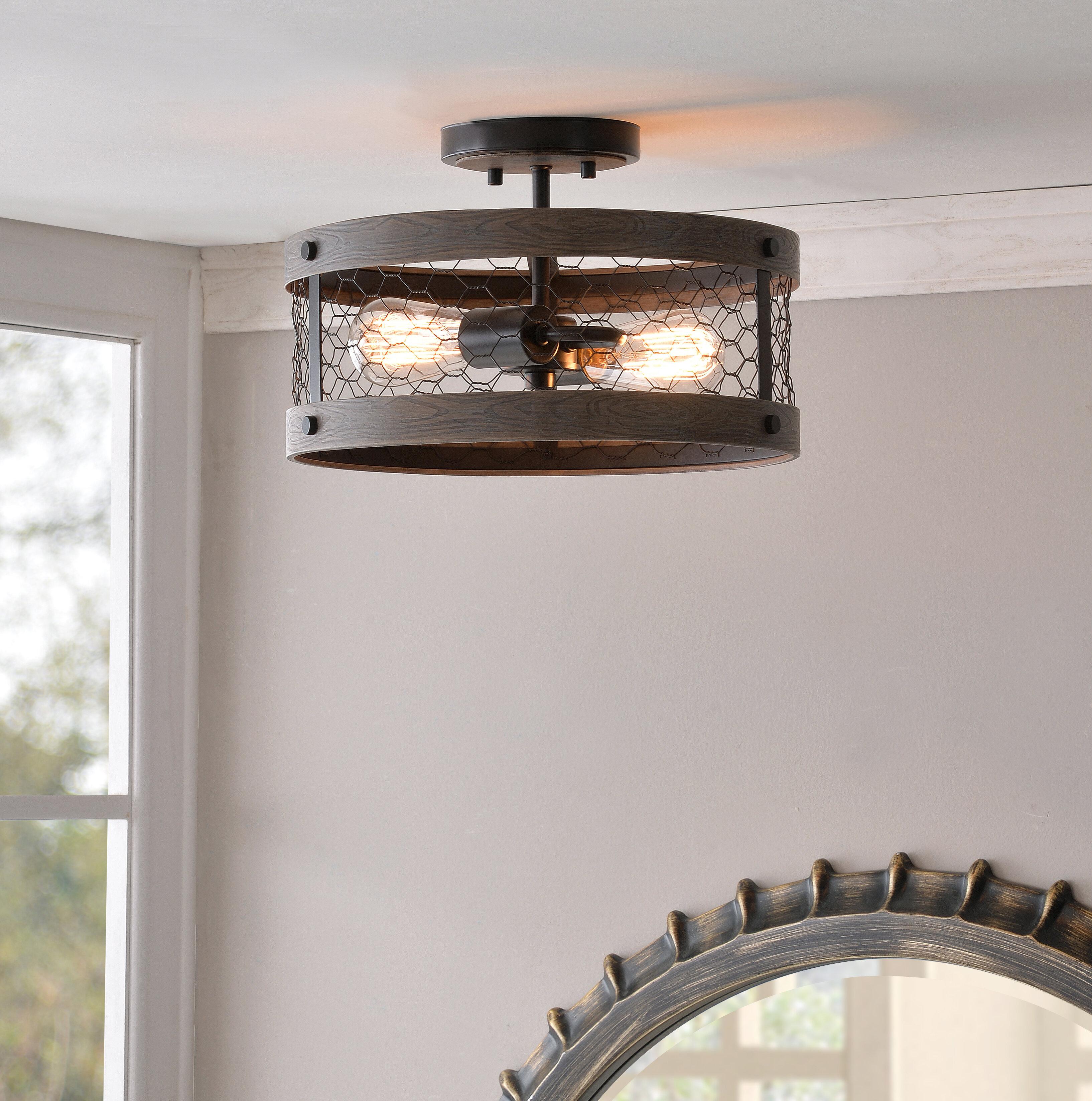 Williston Forge Kronos 2-Light Semi Flush Mount & Reviews | Wayfair