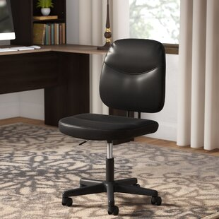 leather office chair. Armless Desk Leather Office Chair H