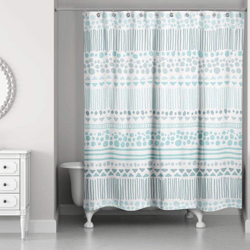 Remus Boho Tribal Shower Curtain