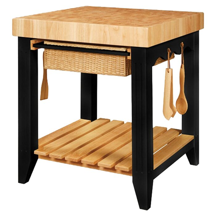 Red Barrel Studio Behling Prep Table With Butcher Block