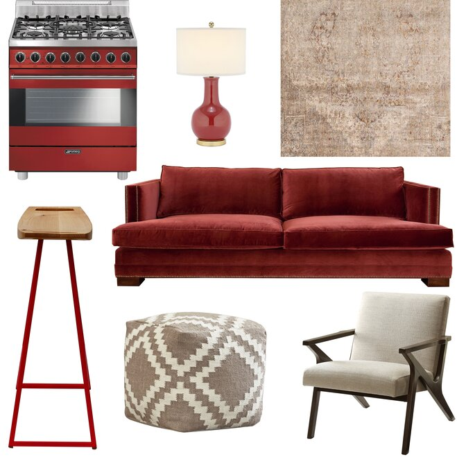 Collection Of Red And Taupe Products