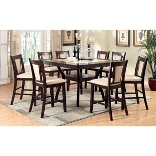 Wilburton 9 Piece Counter Height Pub Table Set