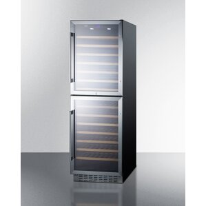 118 Bottle Dual Zone Convertible Wine Cellar by Summit Appliance