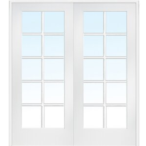 Interior French Doors Opaque Glass interior doors you'll love | wayfair