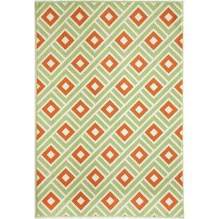 Green/Orange Indoor/Outdoor Area Rug by Home Loft Concept