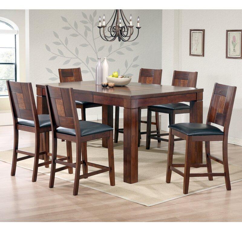 Aw furniture 7 piece 36 pub table set reviews wayfair for Cie publication 85 table 2