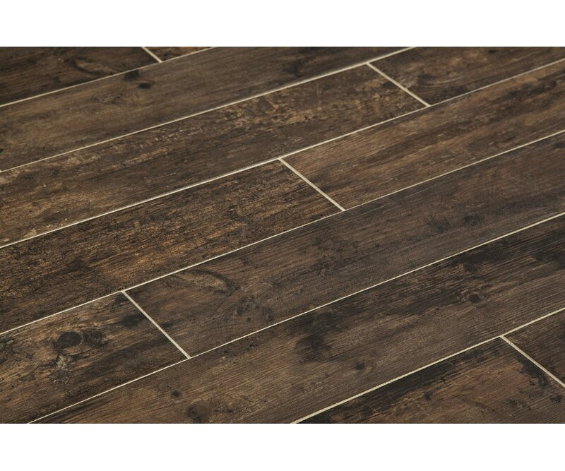 Manor Chalet 6 X 36 Porcelain Wood Look Tile In Wenge Wayfair