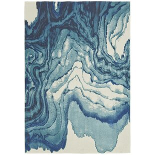 Peoples Blue Gray Area Rug