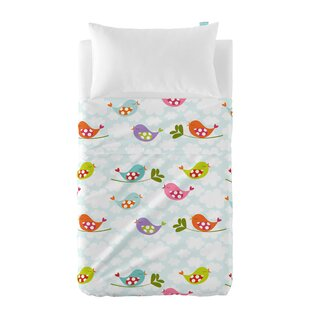 Little Birds 2-Piece Cot Bedding Set by Happy Friday