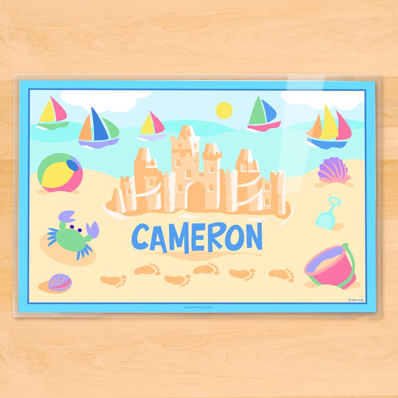 olive kids summer sandcastle boys personalized placemat reviews