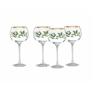 Holiday Balloon 16 oz. Wine Glass (Set of 4)