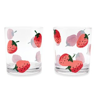 Attrayant Acrylic Drinkware, Strawberries (Set Of 2)