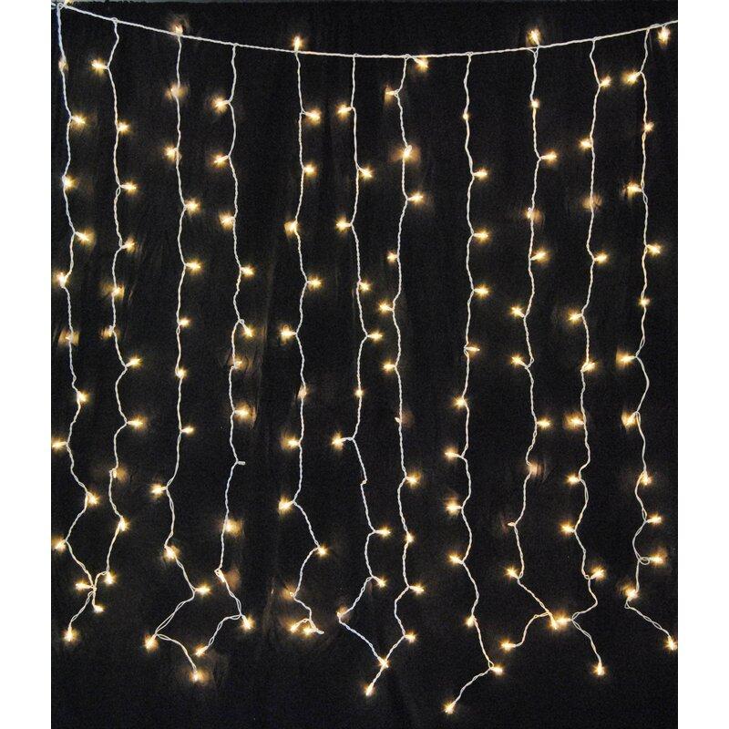 Mercury Row Hillis Curtain 6 ft. 150-Light Fairy String Lights