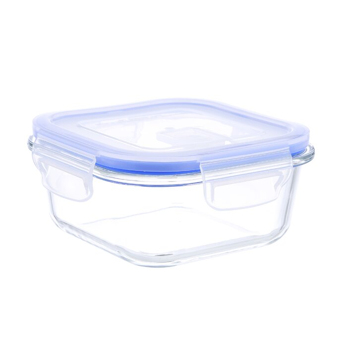 Go Green Glasslock Elements Square 17 Oz. Food Storage Container