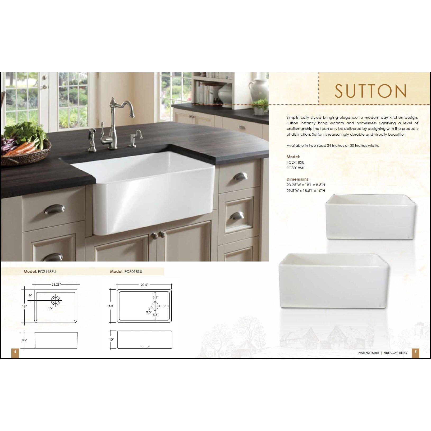 Fine Fixtures Butler 29 5 X 18 5 Fireclay Kitchen Sink Reviews