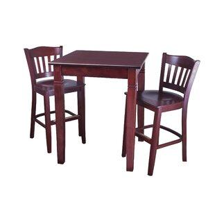 Eaker 3 Piece Pub Table Set 2019 Coupon