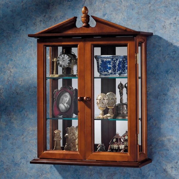 Design Toscano Amesbury Manor Wall Mounted Curio Cabinet Reviews Wayfair