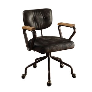 Modern Genuine Leather Desk Chairs | AllModern