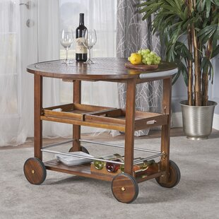 Porsha Wood Bar Cart