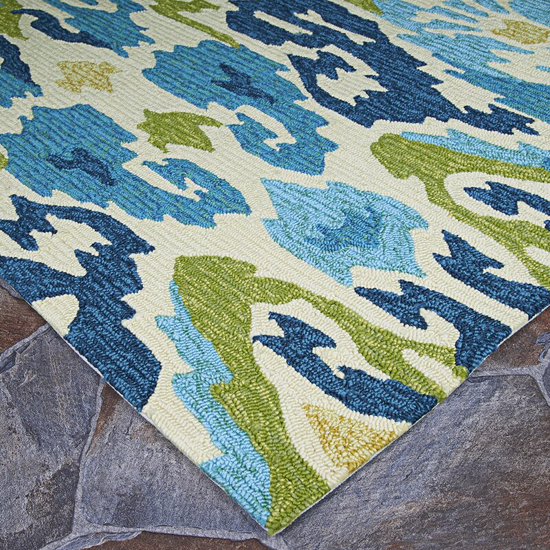 Mariann Hand Woven Green Blue Indoor Outdoor Area Rug Reviews