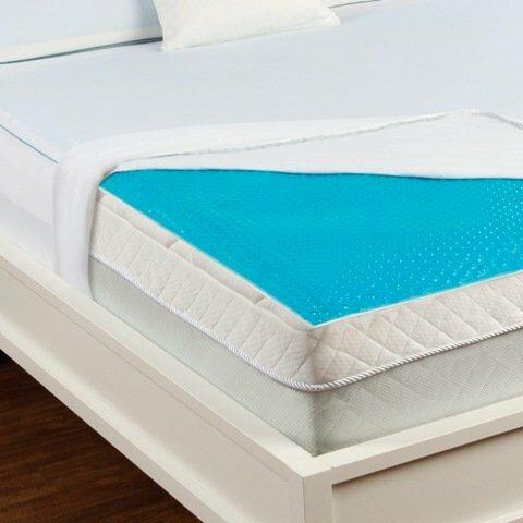 luxury home hydraluxe cooling gel bed mattress pad | wayfair