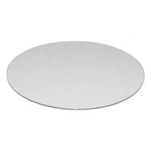 Round Flat Tempered Back Painted Glass Table Topp