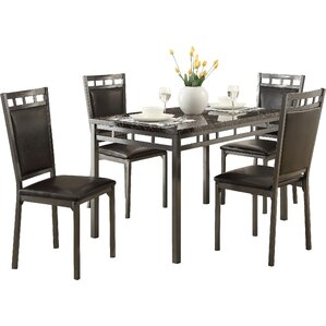Bernice 5 Piece Dining Set by Andover Mills