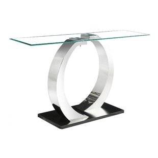 Genial Marchelle Glass Console Table ...