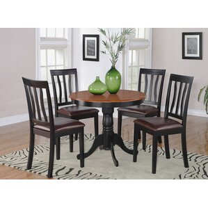Woodward 5 Piece Dining Set by Three Posts