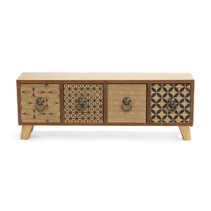 Multi-Functional Storage Compartment Small 4 Drawer Accent Chest