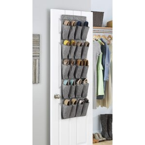 Whitmor 20-Pocket 10 Pair Overdoor Shoe Organizer