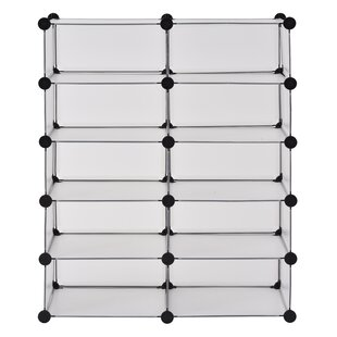 Genial Modular Cube Storage 20 Pair Stackable Shoe Rack