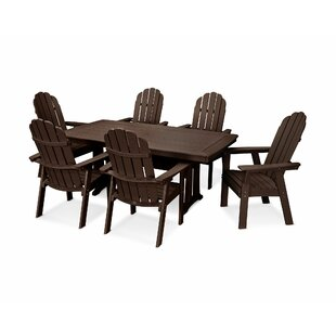 Vineyard Adirondack Nautical Trestle 7 Piece Dining Set