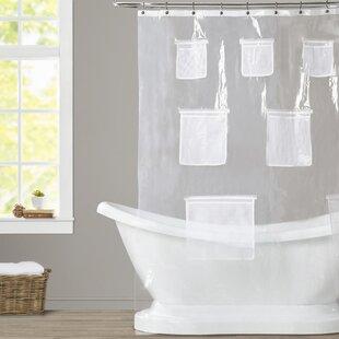 80 inch curtain rod weatherton mesh pockets vinyl shower curtain 80 inch rod wayfair