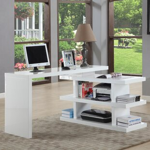 desk with side shelves wayfair