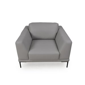 Joachim Top Grain Contemporary Armchair by Orren Ellis