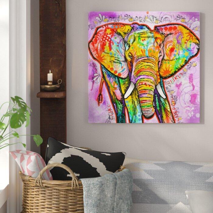 Bungalow Rose Elephant Painting Print On Canvas Reviews Wayfairca