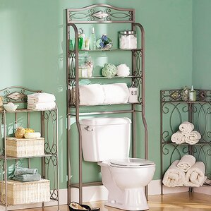 Zula Space Saver Free Standing 27 25 W X 66 5 H Over The Toilet Storage