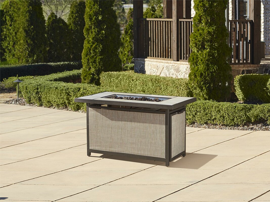 Pavilion Aluminum Propane Fire Pit Table