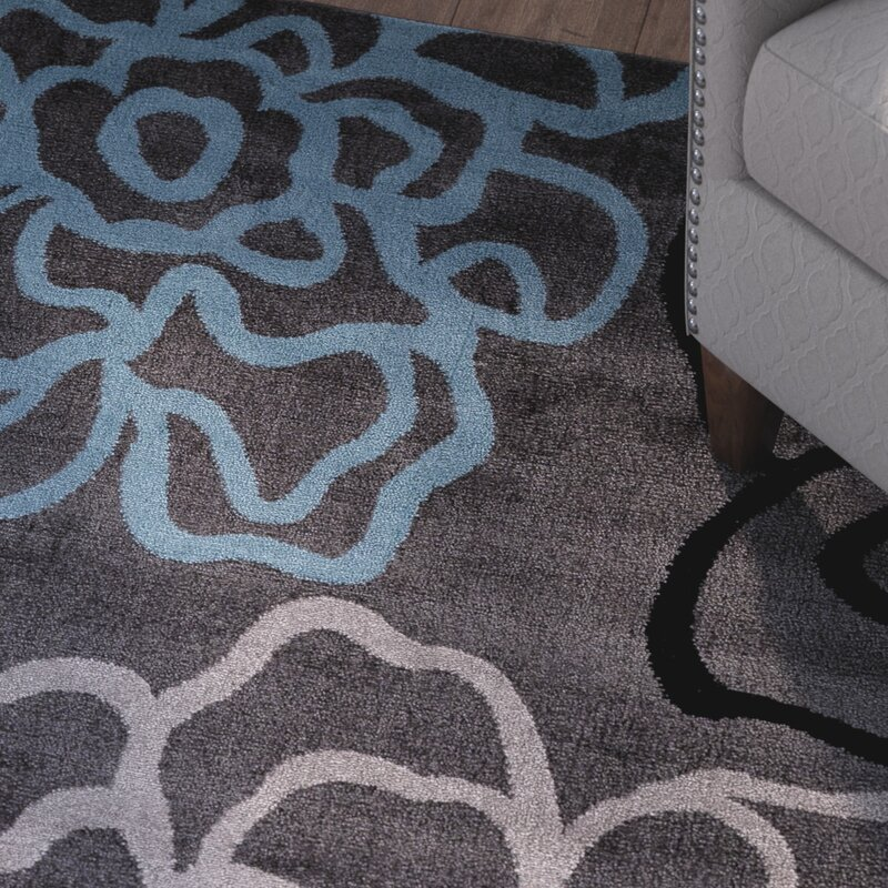 Winston Porter Sharen Gray Area Rug Amp Reviews Wayfair
