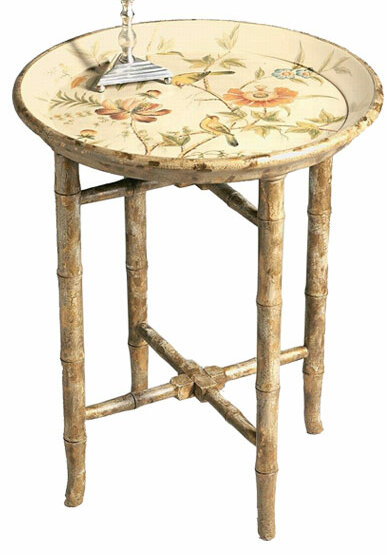 DessauHome Hand Painted Wooden Tray Table | Wayfair
