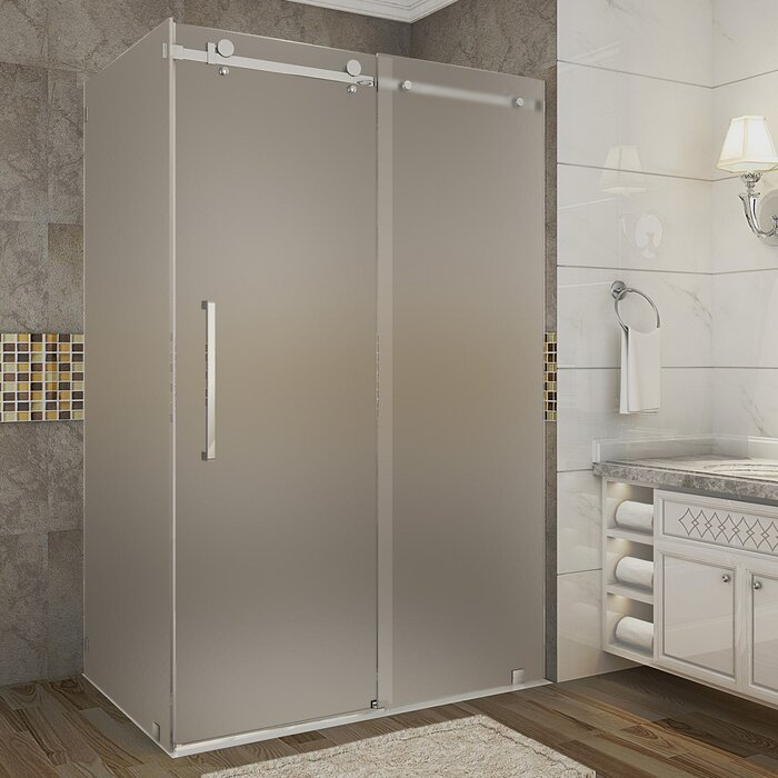 Aston Moselle 48 X 75 Single Sliding Frameless Shower Door