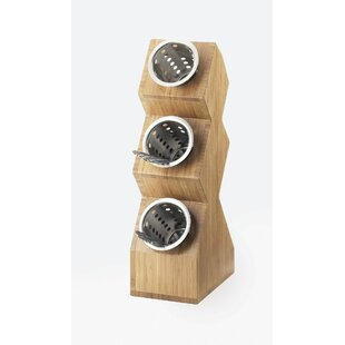 Classic 3 Compartment Vertical Spacesaver Bamboo Stand