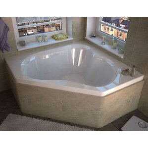 Tobago 59 25 X 59 25 Corner Air Jetted Bathtub With Center Drain