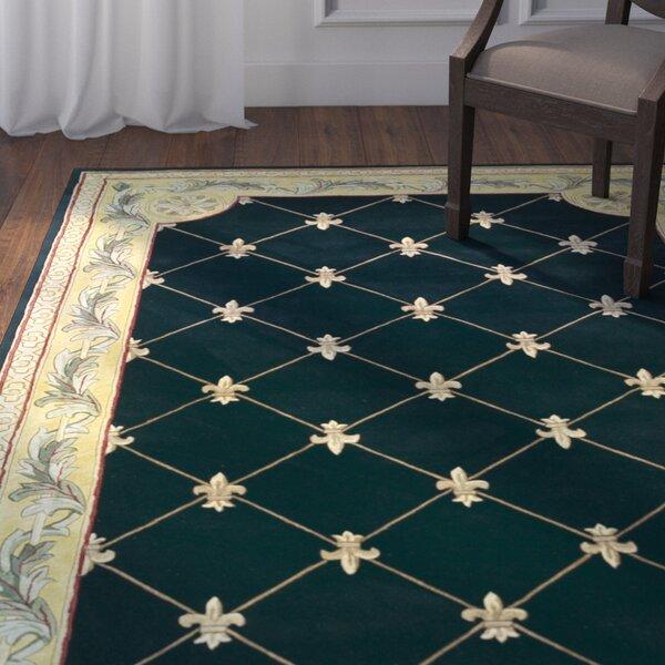 Astoria Grand Totternhoe Black Fleur De Lis Rug U0026 Reviews | Wayfair