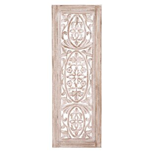 Beige Distressed Wood Wall Décor