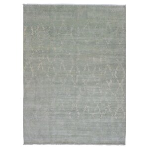 Abigayle Oushak Hand Woven Wool Gray Area Rug